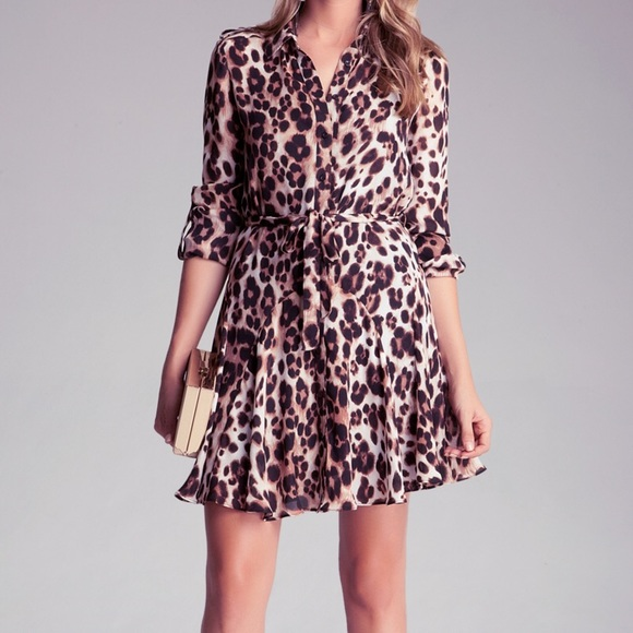 f704b95ac4e bebe Dresses   Skirts - Leopard T-shirt dress Disclaimer  missing tie